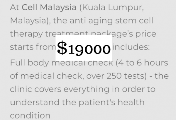 let you know about the cost of stem cell therapy in malaysia